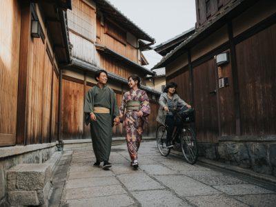 Yuna & Kaito in japanese Kyoto