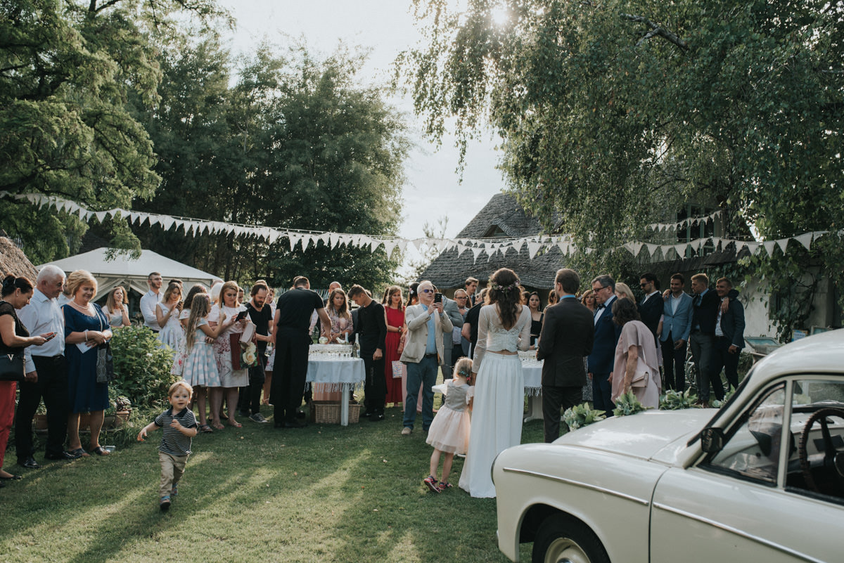 Outdoor wedding in Violinovo